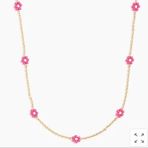 J crew floral beaded necklace